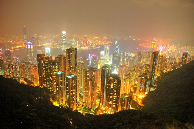 Hong Kong as seen from Victoria's Peak