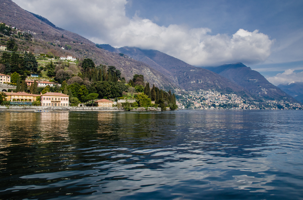 lake como with view of cernobbio - italy
